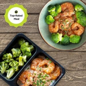 blackened shrimp with broccoli