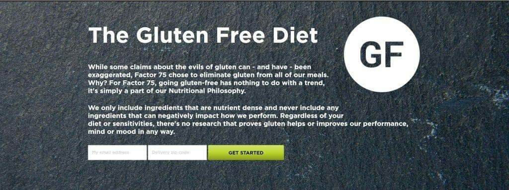 Factor 75 is Gluten-free