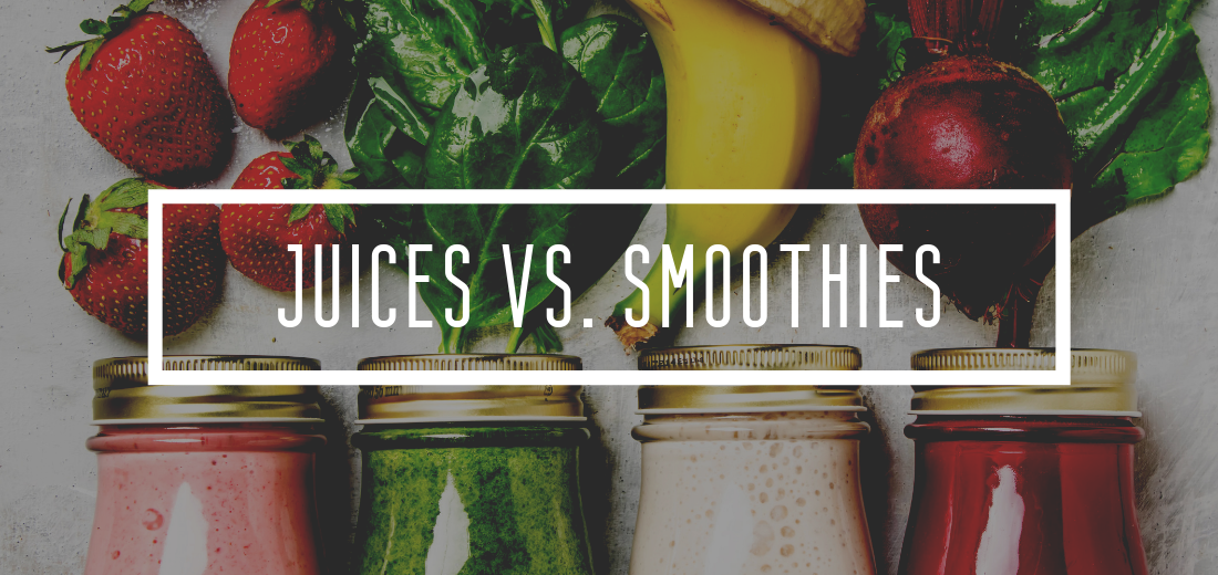 differences between juices and smoothies