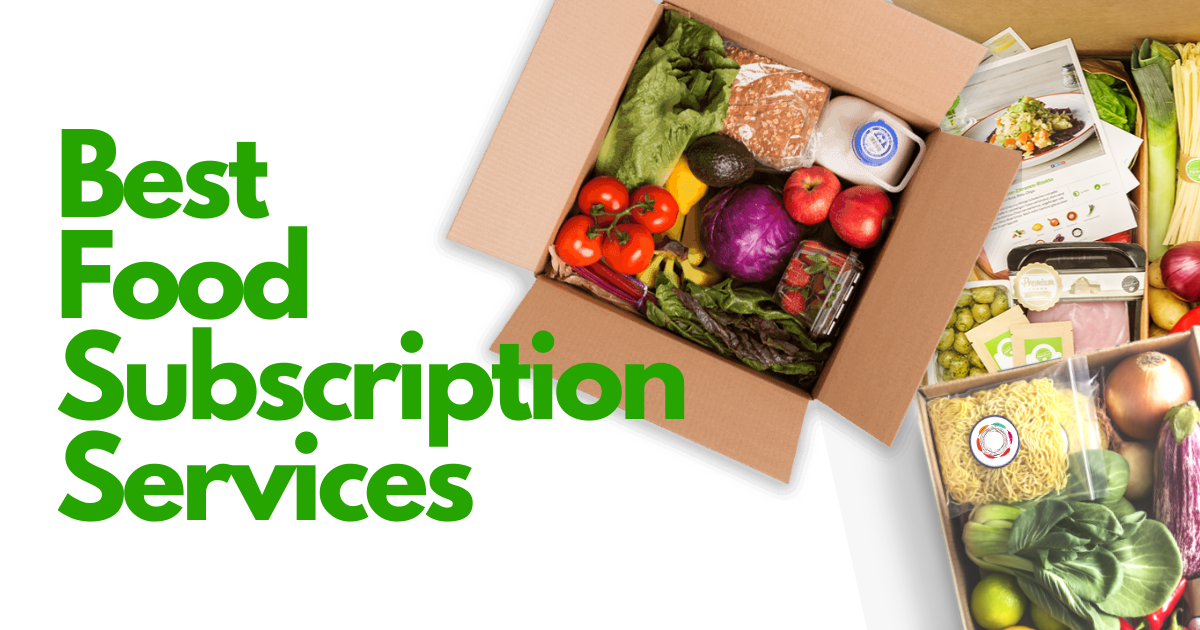 Review of the best food subscription services